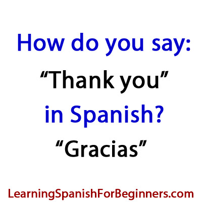 We would greatly appreciate it in spanish